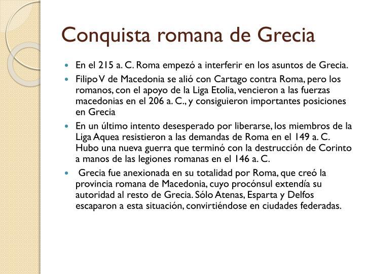 Conquista romana de Grecia
