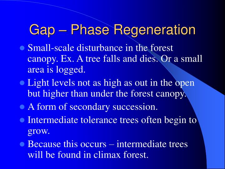 Gap – Phase Regeneration