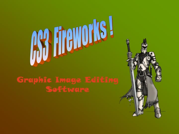 Graphic image editing software
