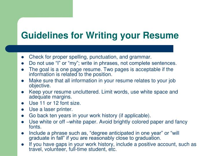 20 new rules of resume writing tips to build a great resume