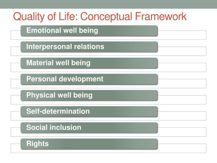Quality of Life: Conceptual Framework