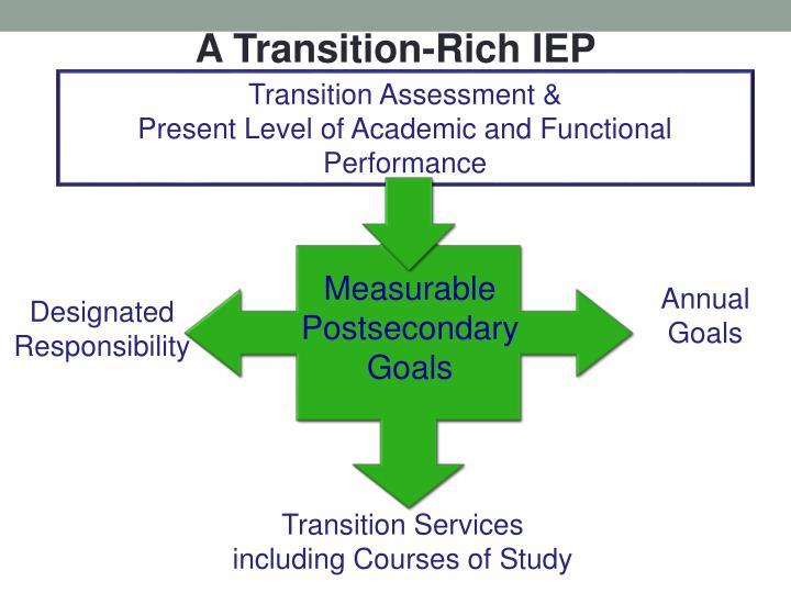 A Transition-Rich IEP