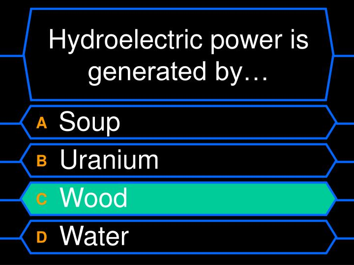 Hydroelectric power is generated by…