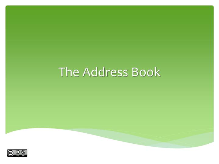 The Address Book