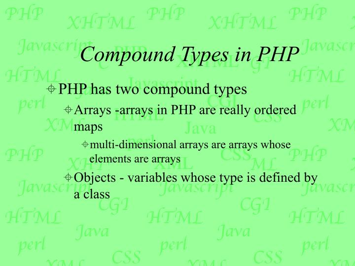 Compound Types in PHP