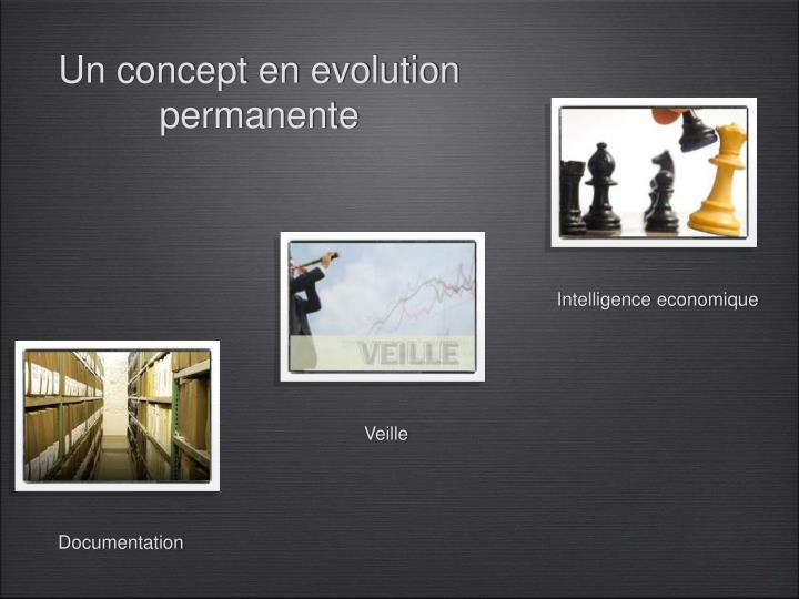 Un concept en evolution permanente