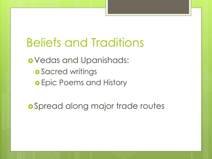 Beliefs and Traditions