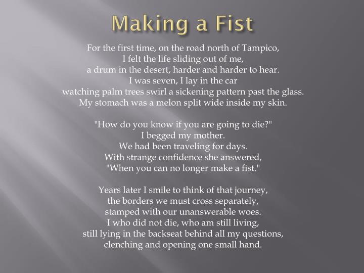 Making a Fist