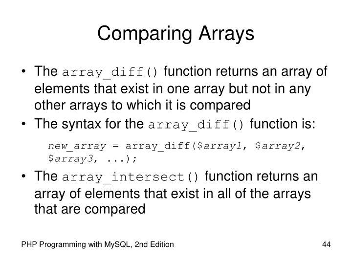 Comparing Arrays
