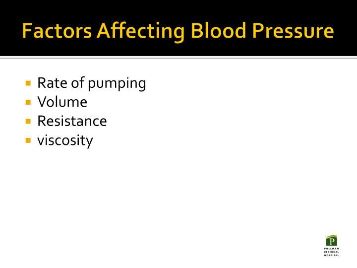 Factors Affecting Blood Pressure