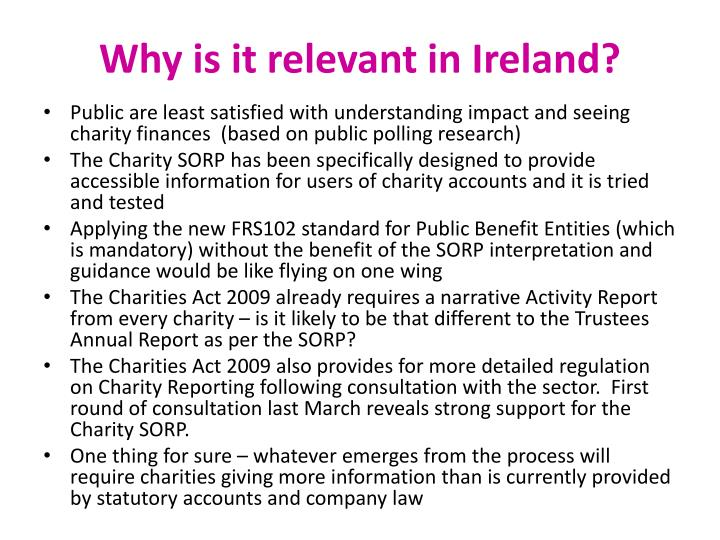 Why is it relevant in Ireland?