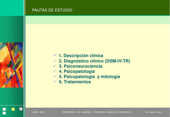 PAUTAS DE ESTUDIO