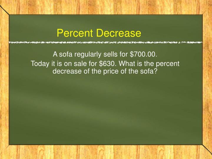 Percent decrease