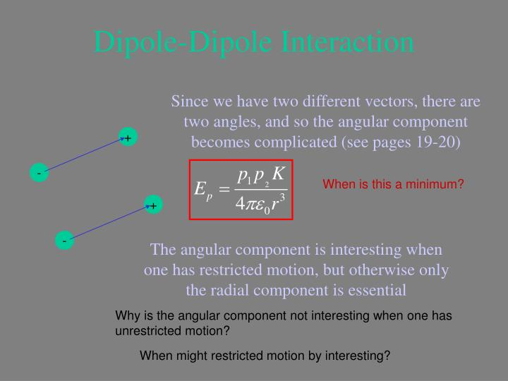 Dipole-Dipole Interaction