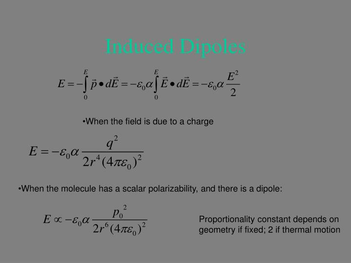 Induced Dipoles