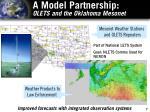 a model partnership olets and the oklahoma mesonet