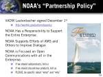 noaa s partnership policy