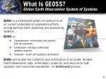 what is geoss global earth observation system of systems