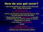 how do you get cover