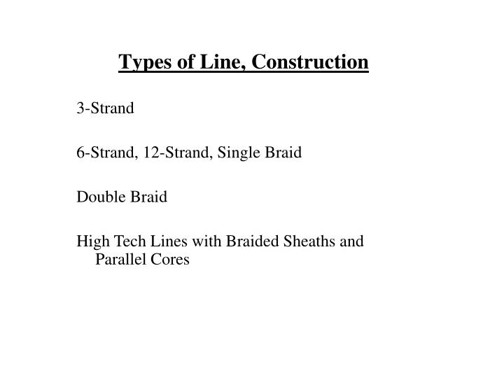 Types of Line, Construction