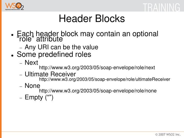 Header Blocks