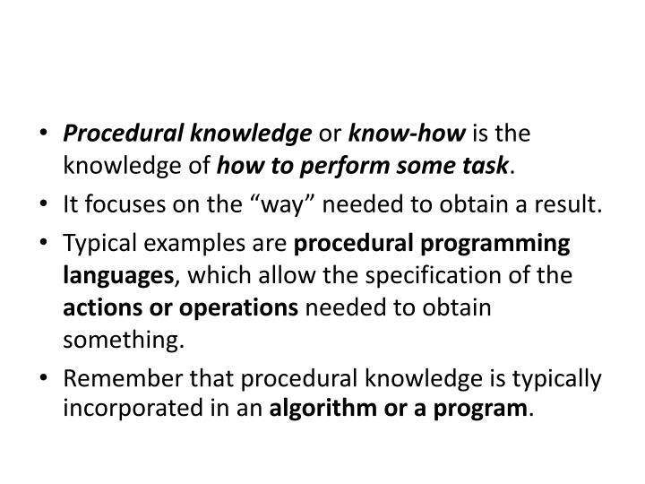 Ppt Procedural Knowledge Powerpoint Presentation Id5351247