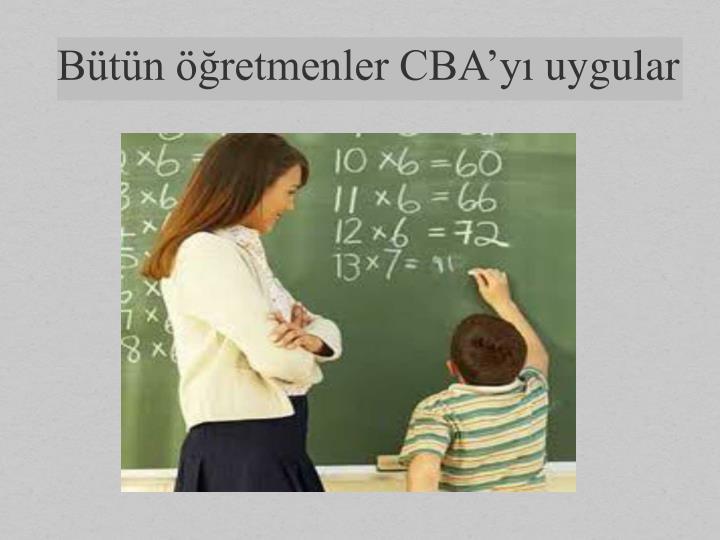 Bütün öğretmenler