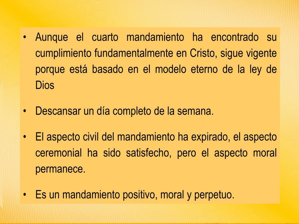 PPT - EL CUARTO MANDAMIENTO PowerPoint Presentation - ID:5351568