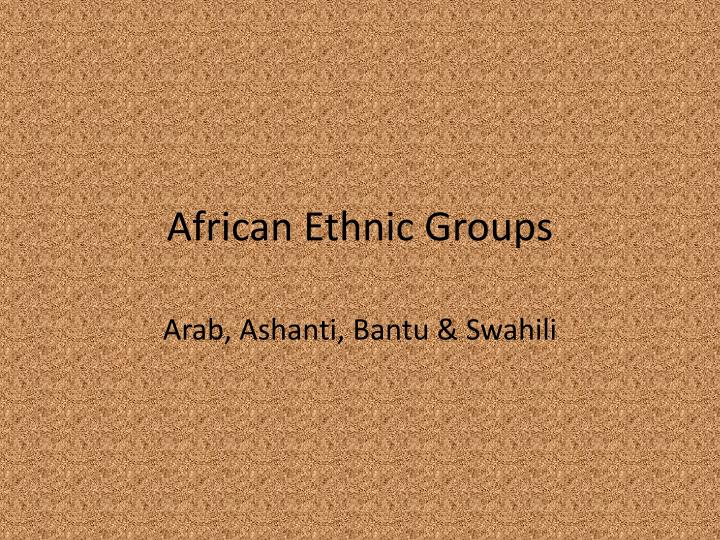 african ethnic groups n.