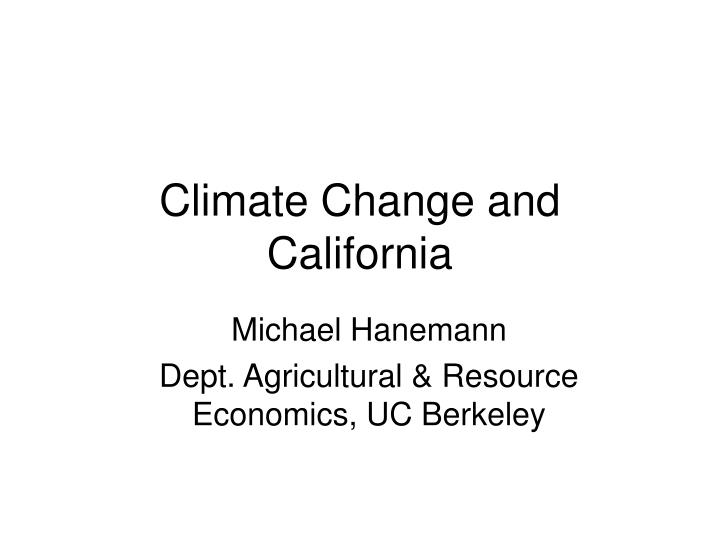 climate change and california n.