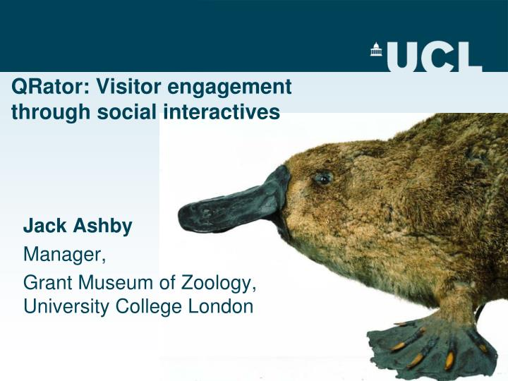 Qrator visitor engagement through social interactives