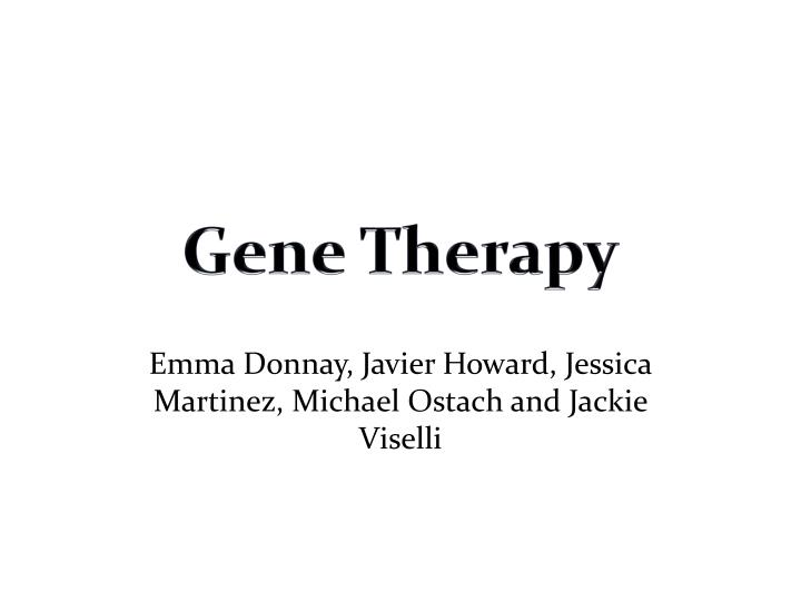 gene therapy n.