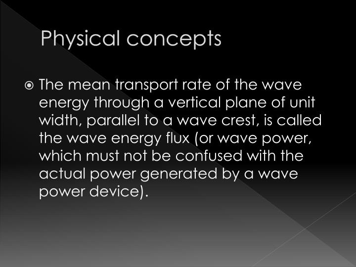 Physical concepts