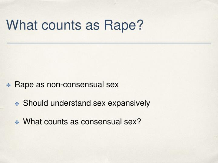 What counts as Rape?