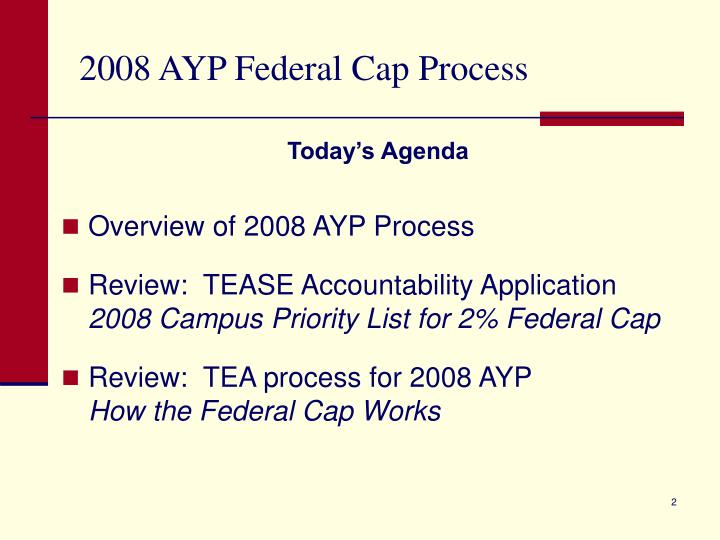 2008 ayp federal cap process1