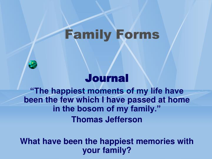 family forms n.