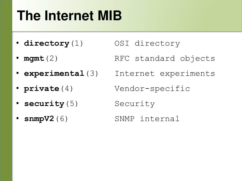 PPT - Introduction to SNMP PowerPoint Presentation - ID:5352309