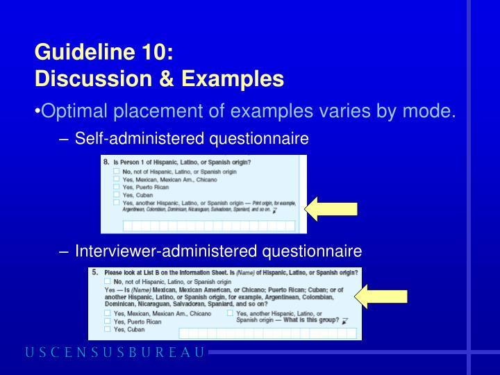 Guideline 10: