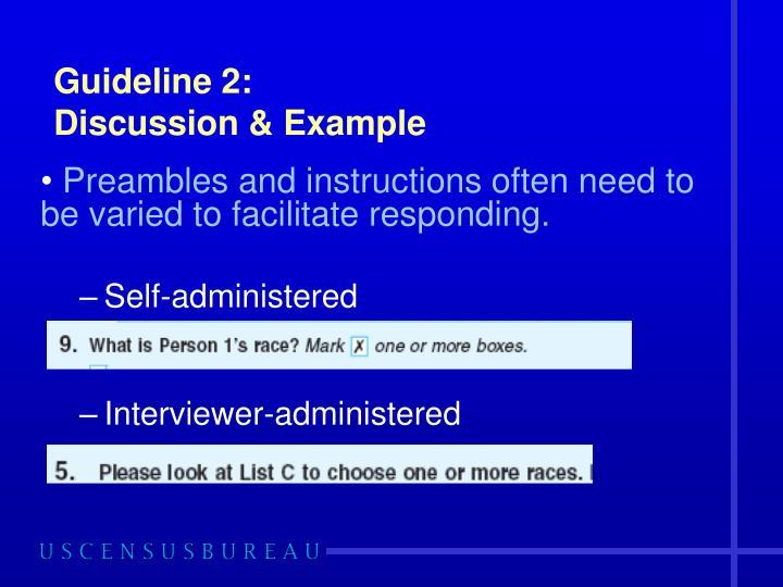 Guideline 2: