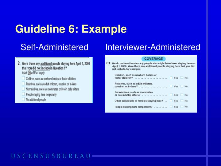 Guideline 6: Example