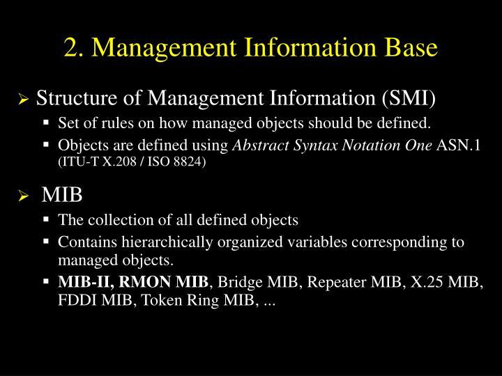 2. Management Information Base