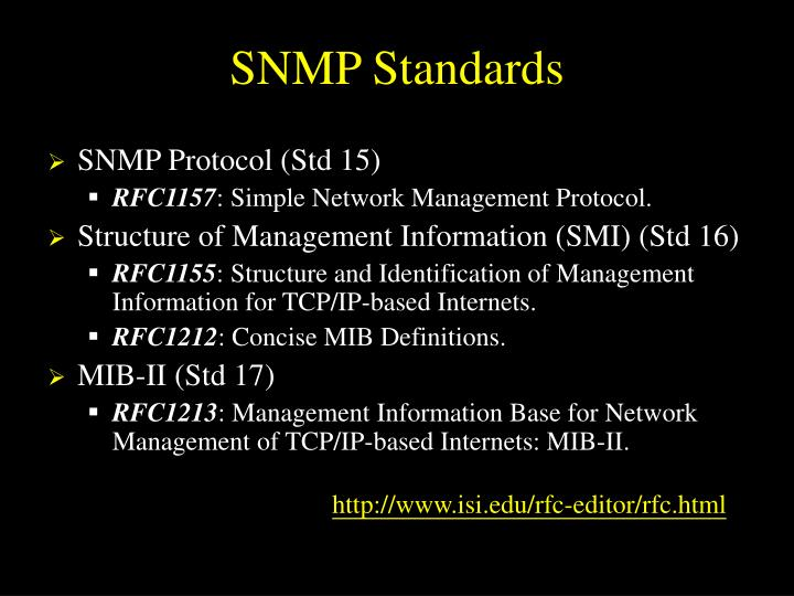 SNMP Standards