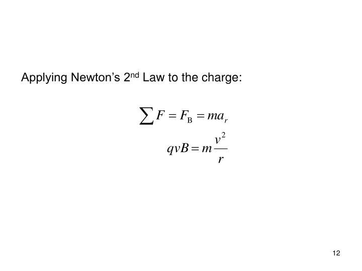 Applying Newton's 2