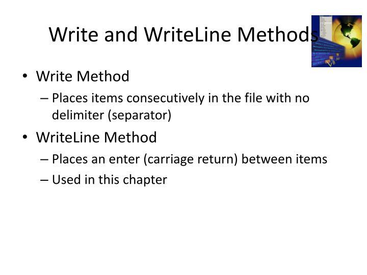 Write and WriteLine Methods