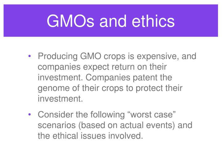 GMOs and ethics