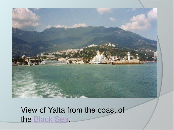 View of Yalta from the coast of the