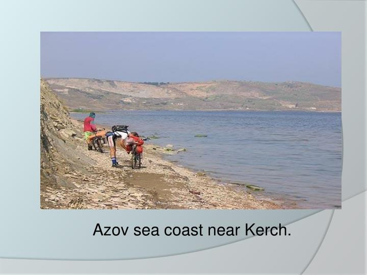 Azov sea coast near Kerch.