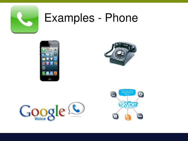Examples - Phone