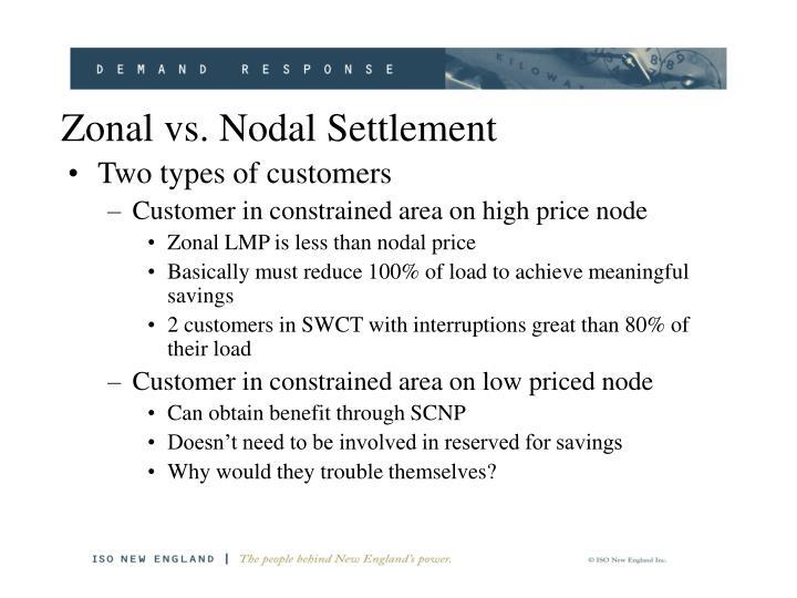 Zonal vs. Nodal Settlement