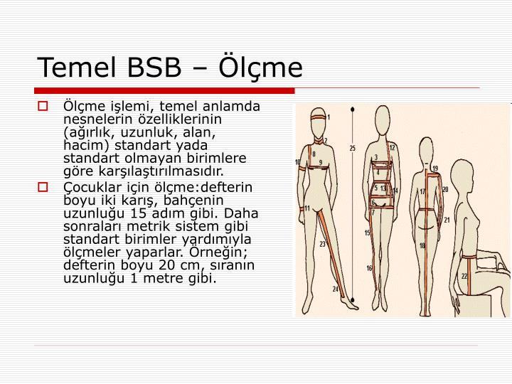 Temel BSB – Ölçme